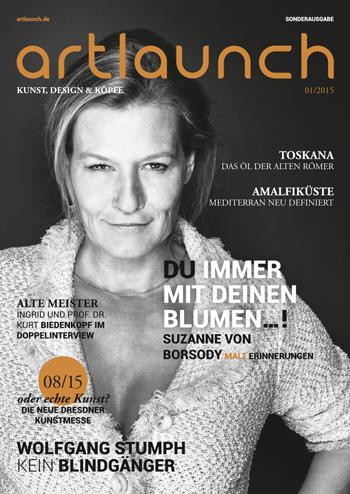 ARTLAUNCH Magazin #01-2015 Cover Suzanne von Borsody © Mirko Joerg Kellner