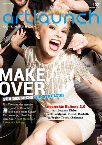 ARTLAUNCH Magazin #02-2016 Cover Susanne Klehn © Mirko Joerg Kellner